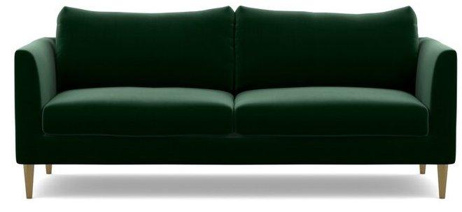 Interior Define Owens Fabric Loveseat Sofa Emerald