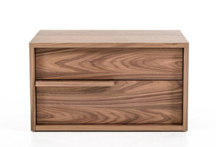 Modrest Beth Modern Nightstand Walnut