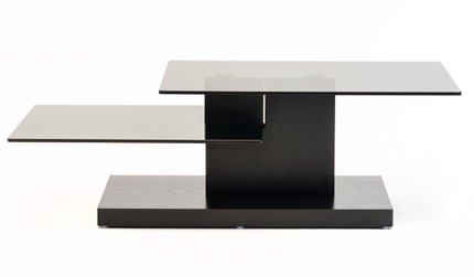 Modrest Dove Contemporary Coffee Table Black Oak