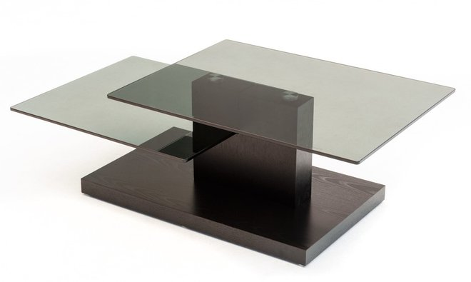 Modrest Dove Contemporary Coffee Table Black Oak