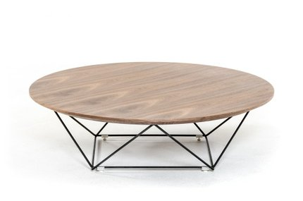 Modrest Spoke Modern Walnut Coffee Table Walnut