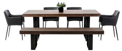 Lola Modern Dining Table Walnut