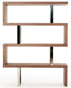 Modrest Maze Bookcase Walnut