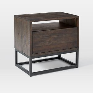 West Elm Logan Nightstand Smoked Brown