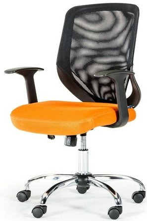 Bold Modern Mesh Office Chair Black and Orange