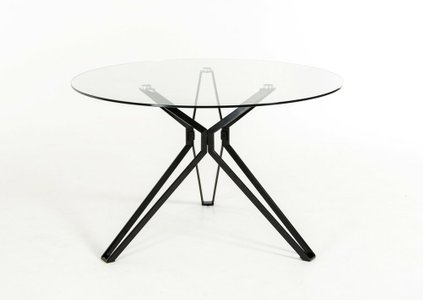 Soiree Modern Round Dining Table Glass