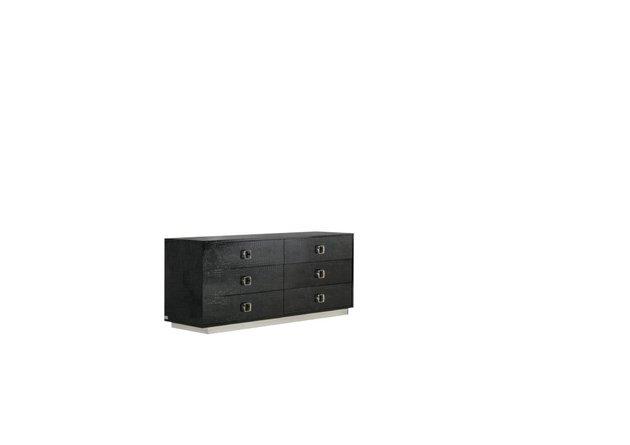 Victoria Modern Crocodile Dresser Black