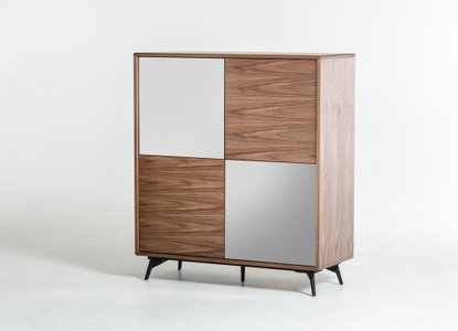 Modrest Kennedy Modern Square Buffet Walnut