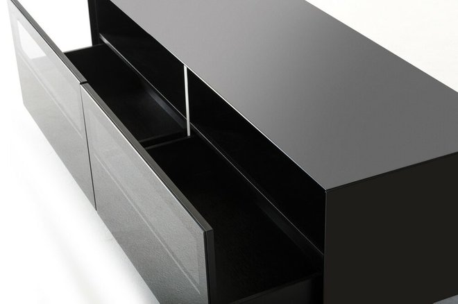 Carter Contemporary TV Stand Black