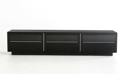 Landon Contemporary TV Stand Black