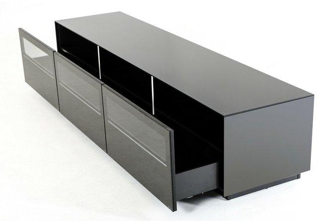 Landon Contemporary TV Stand Black