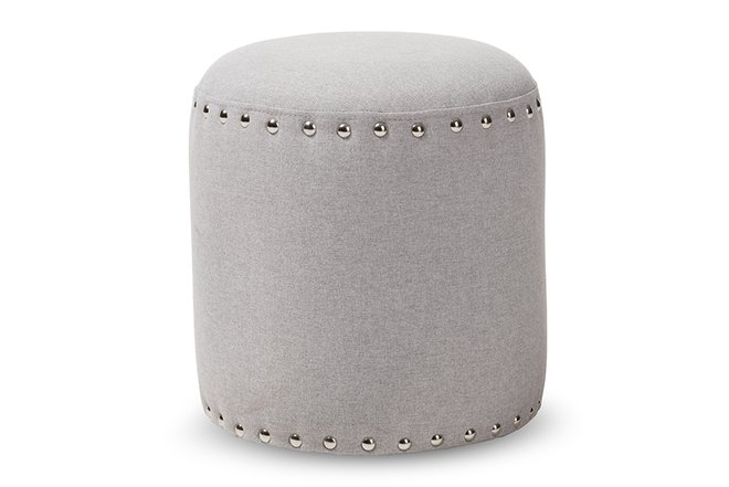 Rosine Ottoman Light Gray