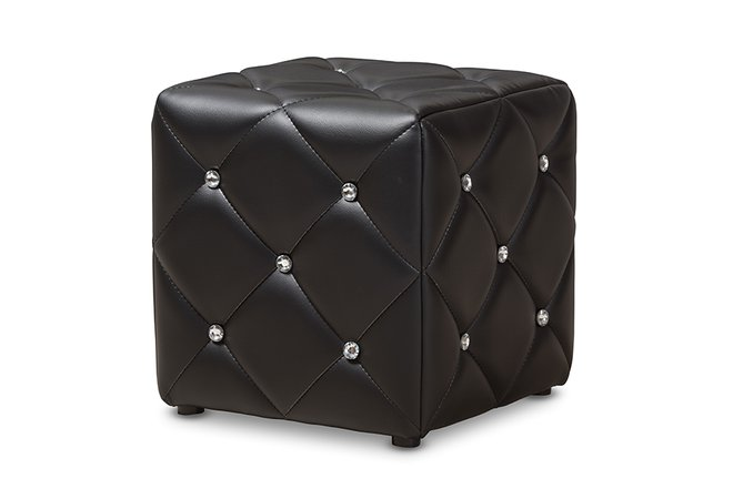 Stacey Ottoman Black