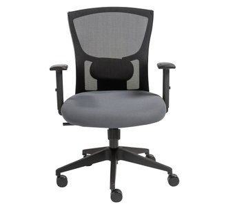 Belma Low Back Office Chair Black Mesh And Gray
