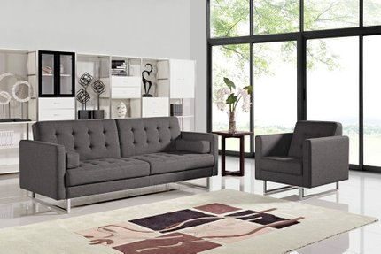 Divani Casa Bauxite Modern Sofa Bed Gray