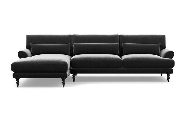 Interior Define Maxwell Left Extended Sectional Sofa Narwhal