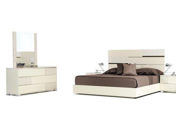 Modrest Ancona Italian Modern Dresser Beige