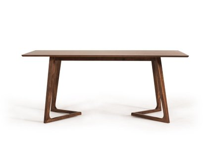 Jett Contemporary Walnut Dining Table