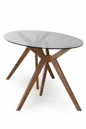 Skylar Modern Oval Dining Table Glass