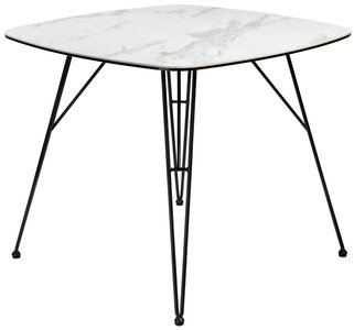 "Alisa 36"" Dining Table White & Black"