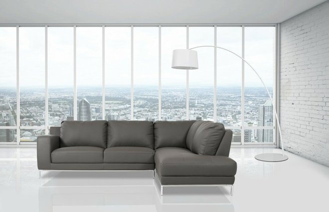 Primrose Modern Sectional Sofa Gray