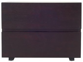 Logan Modern Wenge Nightstand Brown