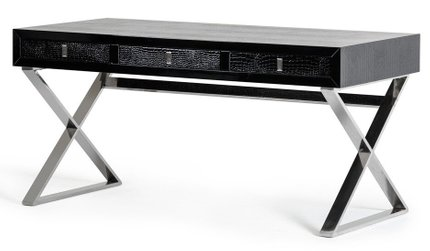 A & X Transitional Crocodile Desk Black