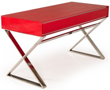 A&X Congress Transitional Crocodile Desk Red
