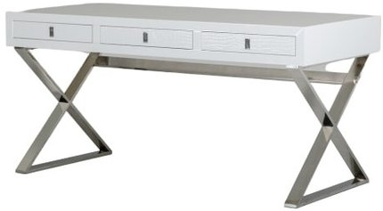 A&X Congress Transitional Crocodile Desk White