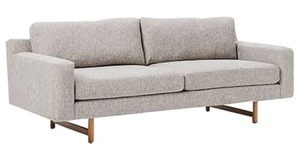 West Elm Eddy Sofa Feather Gray