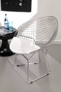 Net Dining Chair White (Set of 2 Units)