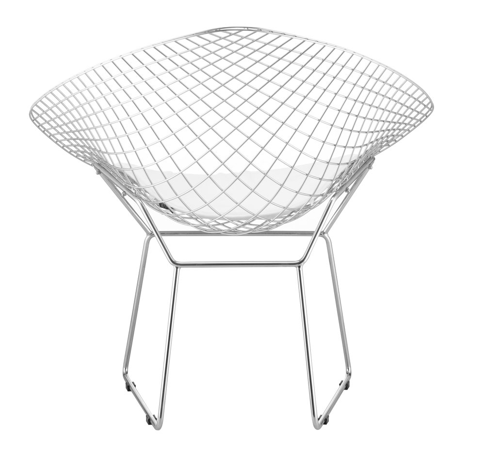 Net Dining Chair White ( Set of 2 Units )