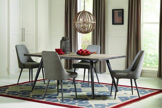 Levitt Modern Dining Chair Gray (Set Of 2)
