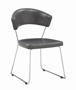 Healy Contemporary Dining Chair Gray And Chrome (Set Of 4)
