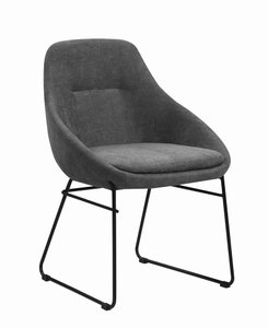 Scott Living Dining Chair Gray And Matte Black
