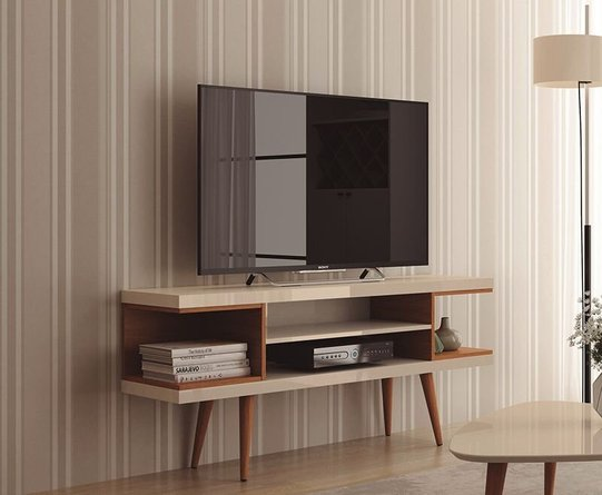 """Utopia 53.14"""" TV Stand Off White/Maple Cream"""