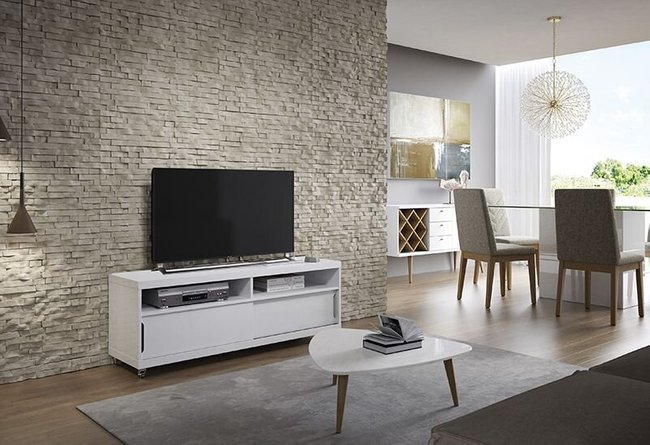 """Batavia 53.14"""" TV Stand White"""