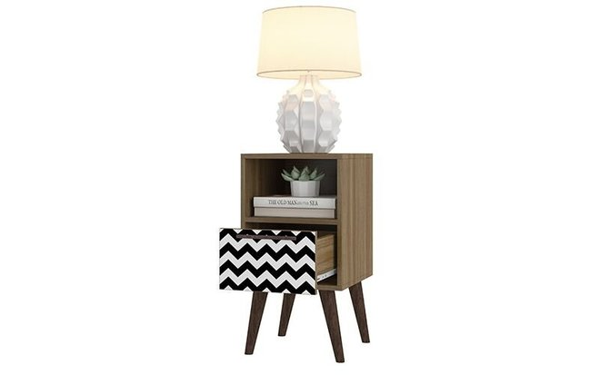 Abisko 2.0 Side Table Charcoal/White Print