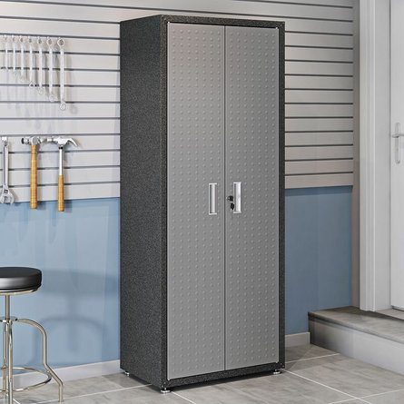 "Fortress Textured Metal 75.4"" Garage Cabinet Gray"