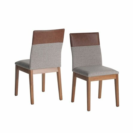 Duke Dining Chair Gray/Brown (Set Of 2)