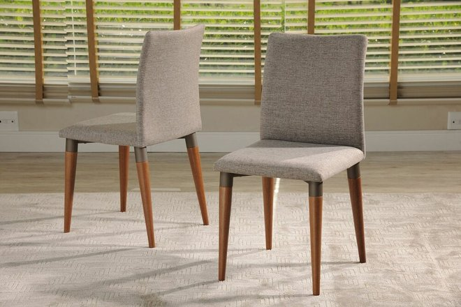 Charles Dining Chair Gray (Set Of 2)