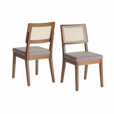 Pell Dining Chair Gray/Maple Cream (Set Of 2)