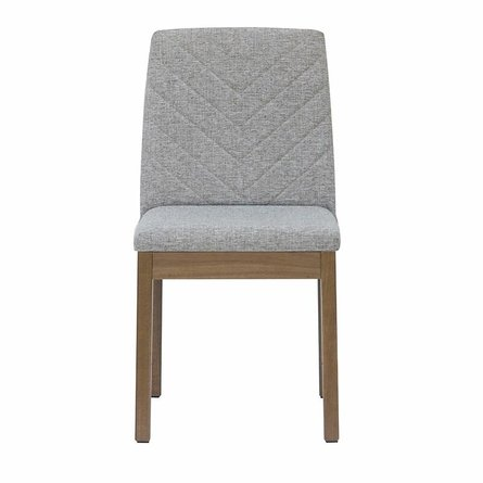 Cathere Chevron Dining Chair Gray (Set Of 2)