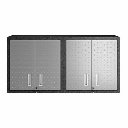 Fortress Floating Garage Cabinet Gray (Set Of 2)