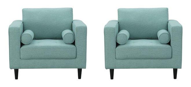Arthur Tweed Armchair Mint Green/Blue (Set Of 2)