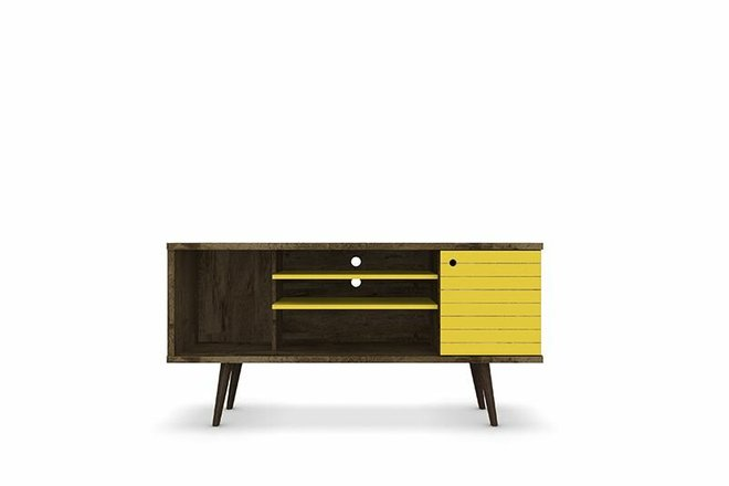 "Liberty 53.14"" TV Stand Brown/Yellow"