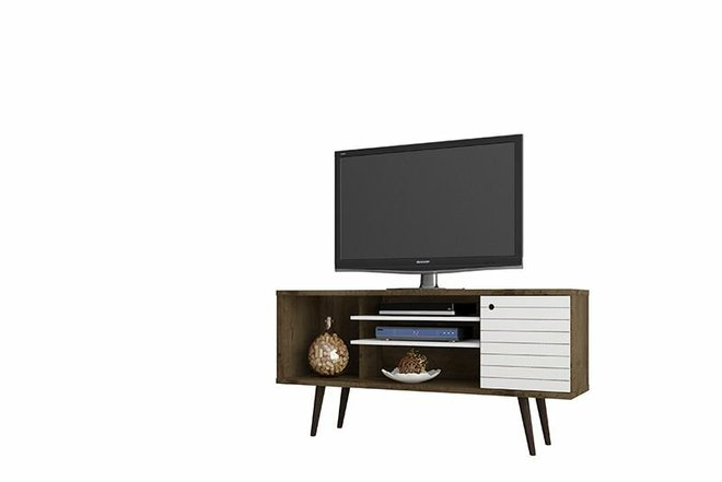"Liberty 53.14"" TV Stand Brown/White"