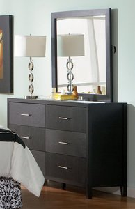 Grove Six-Drawer Dresser Black