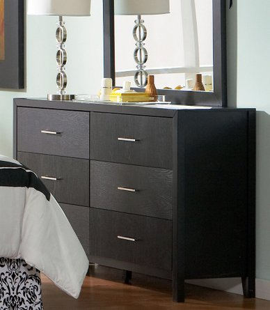 Grove Six-Drawer Dresser Black