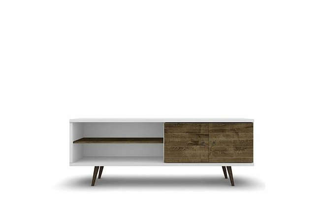 """Liberty 62.99"""" TV Stand White/Brown"""